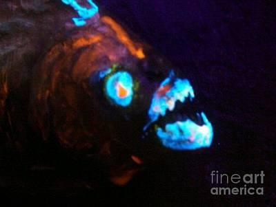 Piranha Painting -  Man-eating Piranha by Robert Del-Rose