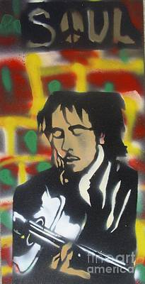 Music Paintings -  Marley Soul Guitar by Tony B Conscious