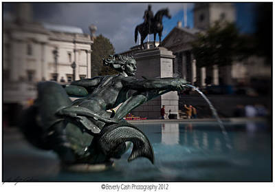 Photograph -  Mermaid Fountain by Beverly Cash