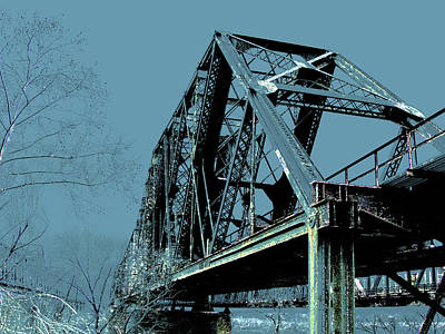 Photograph -  Mississippi River Rr Bridge At Memphis by Lizi Beard-Ward