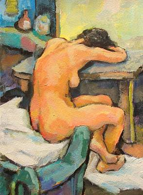 Nude Painting 2 Print by Alfons Niex