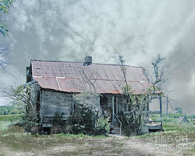 Digital Art -  Old 61 Mississippi Shack  by Lizi Beard-Ward