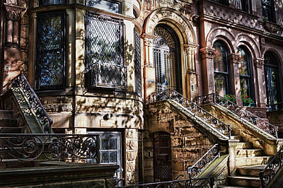 Photograph -  Park Slope Building 33 Take 3 by Val Black Russian Tourchin