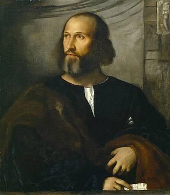 Portrait Of A Bearded Man Art Print by Titian