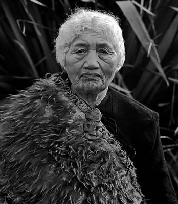Aotearoa Photograph -  Portrait Of Mataroa  by John C Bourne