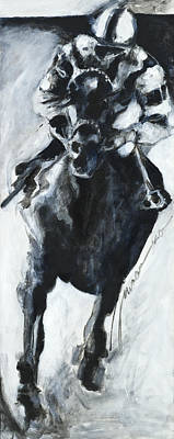 Racehorse Painting -  Racehorse And Jockey  by Francine Stuart