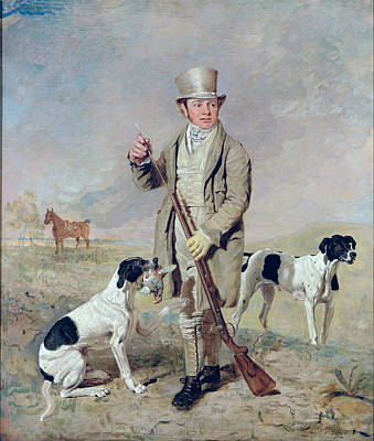 Colonel Wall Art - Photograph -  Richard Prince With Damon - The Late Colonel Mellish's Pointer by Benjamin Marshall