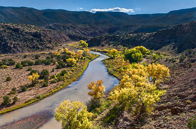 Photograph -  Rio Chama River Autumn by Lou  Novick