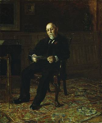 Robert M. Lindsay Art Print by Thomas Cowperthwait Eakins