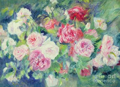 Roses Art Print by Pierre Auguste Renoir