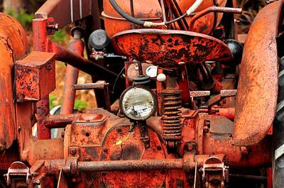 Photograph -  Rusted Tractor by Puzzles Shum