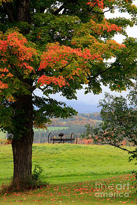 Art Print featuring the photograph  Scenic New England In Autumn by Karen Lee Ensley
