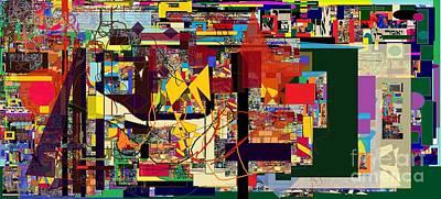 Reconstruction Digital Art -  Faith In The Night by David Baruch Wolk