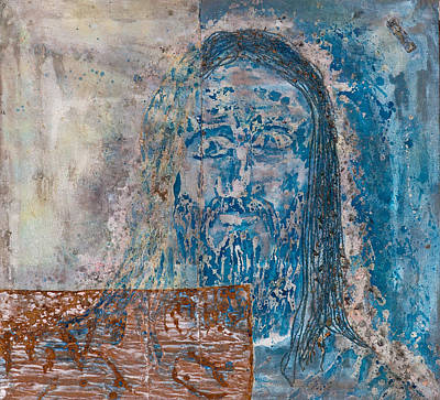 Statue Portrait Painting -  See Me See My Father And The Spirit by Thomas Lentz