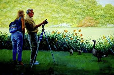 Painting -   Shooting The Goose by Mel Greifinger