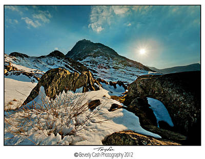 Spring Snows At Tryfan Art Print by Beverly Cash