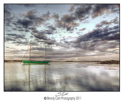 Photograph -  Still - Green Boat by Beverly Cash