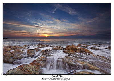 Photograph -  Sunset Tide - Cemlyn by Beverly Cash