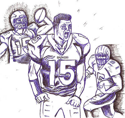Tebow Time Let's Go  Art Print by HPrince De Artist