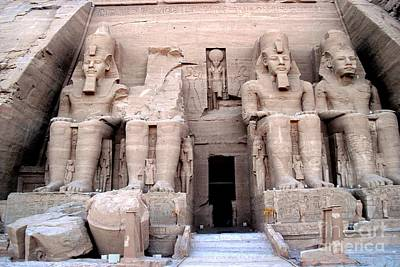 Photograph -  Temple Of Abusimbel by Luis and Paula Lopez