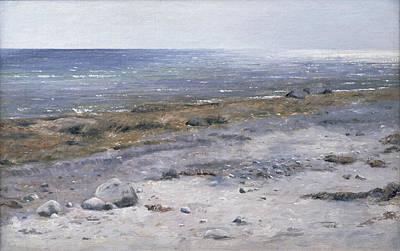 Janus Painting -  The Beach Mols by Janus la Cour