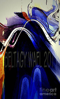 The Blue Wave Art Print by Beltagy Beltagyb