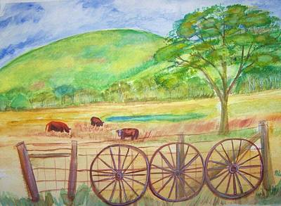 Painting -  The Cattle Gap by Belinda Lawson