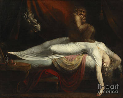 Supernatural Painting -  The Nightmare by Henry Fuseli