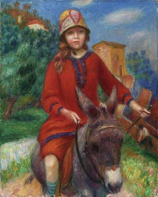 Girl Riding Horse Painting -  The Promenade by William James Glackens