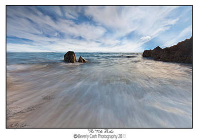 Photograph -  The Tide Rushes - Whistling Sands by Beverly Cash