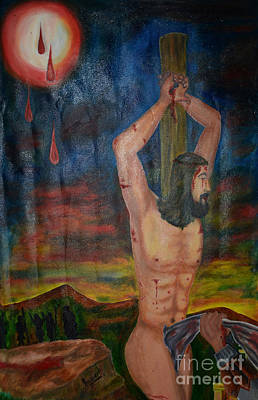 Bible Poster Painting -  Theking Of Kings by Jiss Joseph
