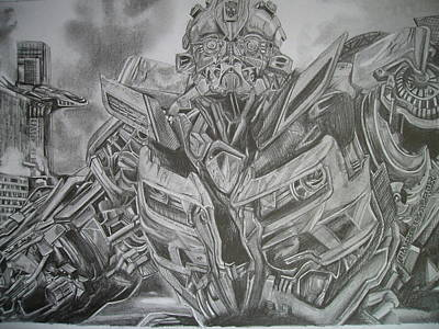 Bumblebee Drawing -  Transformers Two Bumblebee by Ng Hoi Yee