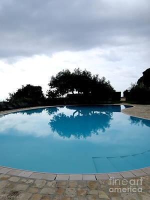 Art Print featuring the photograph  Tree At The Pool On Amalfi Coast by Tanya  Searcy