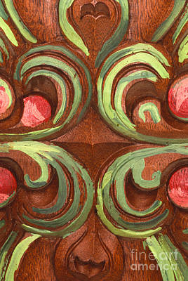 Photograph -  Tucson Painted Door Detail by Sandra Bronstein