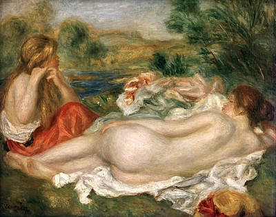 Fixing Painting -  Two Bathers by Pierre Auguste Renoir