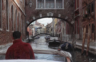 Canal Mixed Media -  Venice Canal Digital Oil Painting by Heinz G Mielke