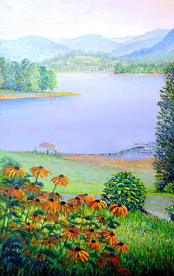 Painting -  View From Mom's Place by Lou Ann Bagnall