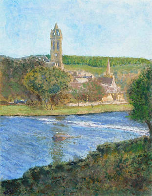 Painting -  View Over The Cauld by Richard James Digance