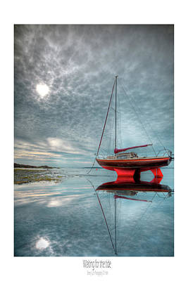 Art Print featuring the photograph  Waiting For The Tide by Beverly Cash