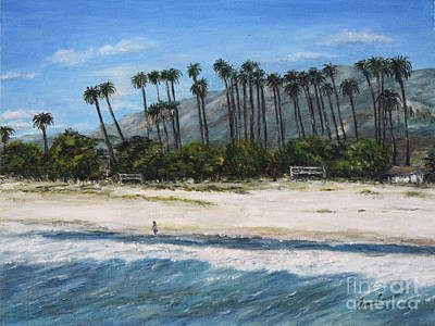 Walk On The Beach Art Print by Danuta Bennett