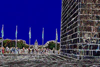 Washington Monument Digital Art -  Washington Monument by Les Mayers