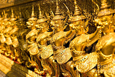 Art Print featuring the photograph  Wat Phra Kaeo by Luciano Mortula
