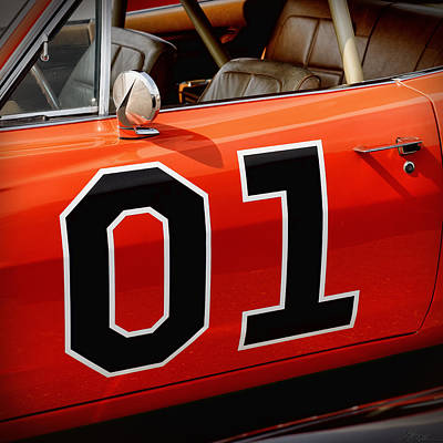 01 - The General Lee 1969 Dodge Charger Art Print by Gordon Dean II