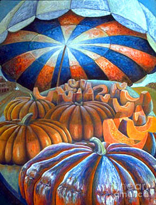 Art Print featuring the painting 01014 Pumpkin Harvest by AnneKarin Glass
