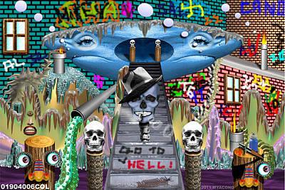 Etc. Digital Art - 01904006col by Michael Yacono