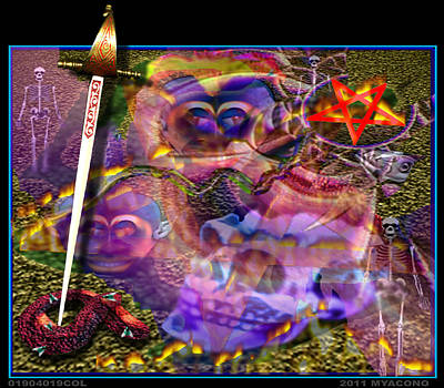 Etc. Digital Art - 01904019col by Michael Yacono