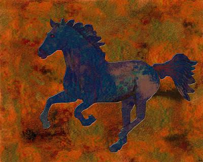New Years - 0210 Digital Horse by Chowdary V Arikatla