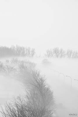 023 Buffalo Ny Weather Fog Series Art Print by Michael Frank Jr