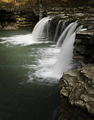 0804-0013 Falling Water Falls 4 Art Print by Randy Forrester