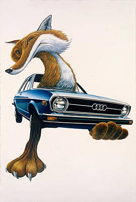 Painting - Audi Fox 2 by Mel Greifinger